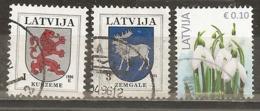 Lettonie Latvia Crests Flowers Obl - Letland