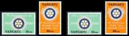 VANUATU 1980 - Yv. 609 610 611 612 ** TB  Cote= 3,20 EUR - Rotary (4 Val.) Légendes Fr. Et Angl.  ..Réf.AFA23275 - Vanuatu (1980-...)