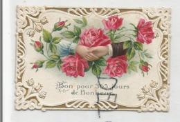Bon Pour 365 Jours De Bonheur. Deux Mains Tendues Sur Un Bouquet De Roses. - Anuncios