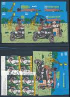 CONGO KINSHASA BELGIQUE EMISSIONS COMMUNES TINTIN USED AND MNH - République Démocratique Du Congo (1997 -...)