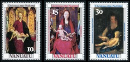 VANUATU 1980 - Yv. 617 618 619 ** TB  Cote= 2,35 EUR - Noël 80 (3 Val.)  ..Réf.AFA23277 - Vanuatu (1980-...)