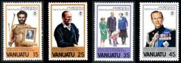 VANUATU 1981 - Yv. 624 625 626 627 ** TB  Cote= 4,50 EUR - Duc D'Edimbourg (4 Val.)  ..Réf.AFA23279 - Vanuatu (1980-...)