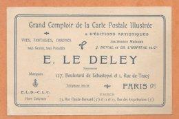 EDITEUR DE CARTES POSTALES -- Grand Comptoir De La Cartepostale Illustrée E. LE DELEY -- PARIS - Werbepostkarten