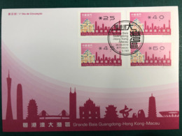 MACAU GRET BAY 2019 ATM LABELS FDC WITH NEW VISION BOTTOM SET - 1999-... Chinese Admnistrative Region