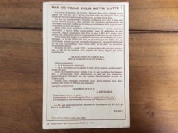 Tract Politique : MLAC Mouvement Pour La Liberté De L'Avortement Et De La Contraception - 1973 - Organizations