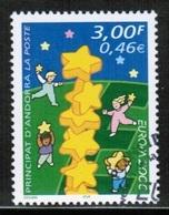 CEPT 2000 AD FR MI 551 ANDORRA FRANCE USED - Europa-CEPT