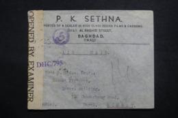 IRAQ - Enveloppe Commerciale De Baghdad Pour Bombay En 1945, Affranchissement Plaisant Au Verso + Contrôle  - L 42762 - Iraq