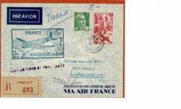 AEROPOSTALE.FRANCE- AMERIQUE DU SUD- 23 JUIN 1946, SANTIAGO DU CHILI - Chili