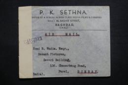 IRAQ - Enveloppe Commerciale De Baghdad Pour Bombay En 1945, Affranchissement Plaisant Au Verso + Contrôle  - L 42763 - Iraq