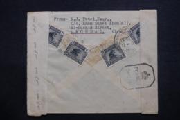 IRAQ - Enveloppe Commerciale De Baghdad Pour Bombay En 1944, Affranchissement Plaisant Au Verso + Contrôle  - L 42765 - Iraq
