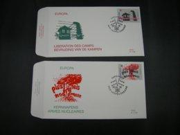"BELG.1995 2597 & 2598 FDC's ( Leopoldsburg ) : "" EUROPA 1995  "" - FDC"