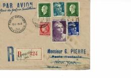 AEROPOSTALE.PARIS New York PAR CONSTELLATION 1946 - France