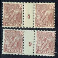 Guyane - N° 55* -  Millésime 4 Et 9 - Guyane Française (1886-1949)