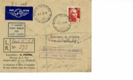 AEROPOSTALE.1 ERE LIAISON PARIS DUBLIN PAR A.E.R LINGUS 1946 - France