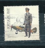 N° 1600 Aviation Pilote Et Hurricane  Timbre Portugal (1984 ) Oblitéré - Oblitérés