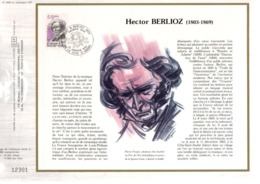 DOCUMENT FDC 1983 HECTOR BERLIOZ - FDC