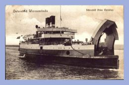 "CPA - Ostseebad Warnemünde (Allemagne) - Ferry-boat ""Prins Christian"" - Transbordadores"