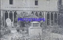 120827 SPAIN ESPAÑA BALAGUER LERIDA CLAUSTRO DEL CONVENTO DE STO DOMINGO  POSTAL POSTCARD - Spain