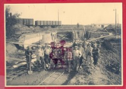 LIEGE 1924  -  Lot De 8 Photos (format 12 X 16.5 Cm) Sur La Construction Du FUTUR PORT DE LIEGE - Luik