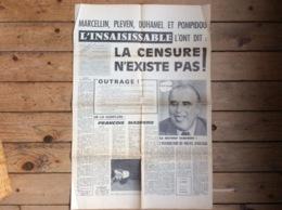 Journal Tract Politique :  L'INSAISISSABLE  La Censure N'existe Pas :dessins De Cabu Siné ...   - 1973 - Organizations