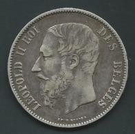 Belgique, Leopold II, 5 Francs, 5 Frank, 1875 Pia 21704 - 09. 5 Francs