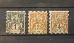 Mohélie N° 1 - 2 - 3  - Cote : 10 Euros - Used Stamps