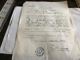 Mairie De Sanary Transfert De Carte Grise Le Maire De La Commune Certifie Sanary Sur Mère Date De Première Mise En Circu - Francia