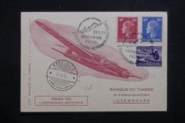 LUXEMBOURG - Carte Par 1er Vol Postal Luxembourg / Reykjavik / New York En 1955, Affranchissement Plaisant - L 42770 - Lussemburgo