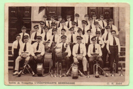 """CPA - BESSEGES - Société De Trompettes  """"L'INDEPENDANTE BESSEGEOISE"""" - - Bessèges"""