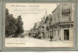 CPA - SAINT-MIHIEL (55) - Aspect Du Restaurant-Brasserie Le Margery De L'avenue De La Gare En 1914 - Saint Mihiel