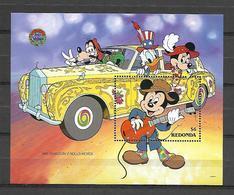 Disney Redonda 1990 Phanton V Rolls-Royce 1965 MS MNH - Disney