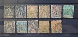 Martinique - N° 31 à 36 + 38 - 39 - 40 - Les Neufs Sont * - MH  - Cote : 76euros - Martinique (1886-1947)