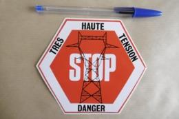 Autocollant Stickers - Pylône électrique TRES HAUTE TENSION STOP DANGER - Adesivi