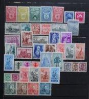 BELGIE   1946-47 En '48    Samenstelling  Nr. 743 - 47 / 748 - 50 / 761 - 766 ....   Scharnier *   CW  103,00 - Neufs