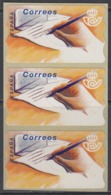 Spain 1994 - ATM 10 Hand Writing Letter - Strip Of 3 Without Value Imprint - Mi 9.4 ** MNH - 1991-00 Nuevos & Fijasellos