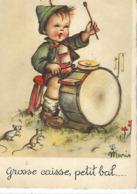 CPA Bébé Enfant Musicien Batterie Rat Souris - Cartes Humoristiques