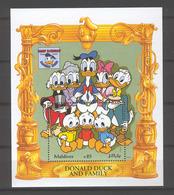 Disney Maldives 1995 Donalnd Duck And Family MS MNH - Disney