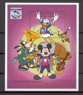 Disney Maldives 1995 Donald's Symphony Orchesta MS MNH - Disney