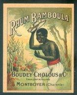 ETIQUETTE RHUM BAMBOULA  PAR SAUTAT A LILLE  VERS 1900 TB - Rhum