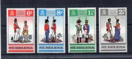 ISOLA DI ST. HELENA - 1969 - Uniformi Militari - 4 Valori - Nuovi - Linguellati * - (FDC17269) - Isola Di Sant'Elena
