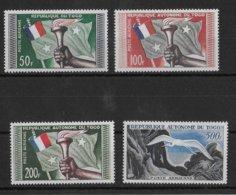 TOGO - OISEAUX / BIRDS - POSTE AERIENNE YVERT 25/28 ** MNH - COTE = 30.5 EUR - Togo (1960-...)