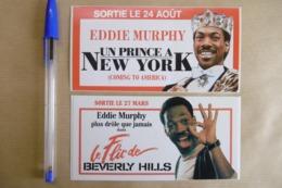 """Autocollant Stickers - Acteur EDDIE MURPHY """"Un Prince à NEW YORK"""" Et """"Le Flic De BEVERLY HILLS"""" - Lot De 2 Cinéma Films - Autocollants"""
