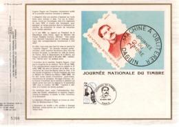 DOCUMENT FDC 1985 JOURNEE DU TIMBRE DAGUIN - FDC