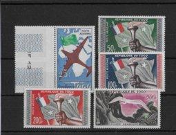 TOGO - OISEAUX / BIRDS - POSTE AERIENNE YVERT 25/28 ** MNH - COTE = 28 EUR - Togo (1960-...)