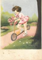 CPA Enfant JEUX  Trotinette - Cartes Humoristiques