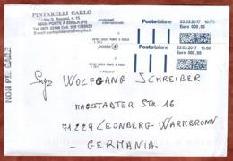 Brief, Schalterfreimachung?, Ponte A Egola Nach Leonberg 2017 (80116) - 6. 1946-.. Repubblica