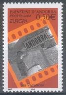 Andorra (French Adm.), EUROPA, Holidays, 2004, MNH VF  594 - French Andorra