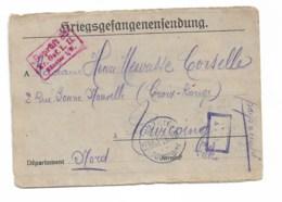 """Lettre Prisonnier De Guerre  Du Camp De Munster   """"mairie De Tourcoing Service Gratuit"""" 26 Mai 1918 - Marcophilie (Lettres)"""