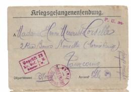 """Lettre Prisonnier De Guerre  Du Camp De Munster   """"mairie De Tourcoing Service Gratuit""""1918 - Poststempel (Briefe)"""