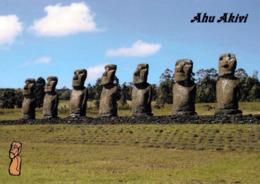 "1 AK Osterinsel Easter Island * Steinstatuen Der Osterinsel - Moai Gruppe ""AHU AKIVI"" - Seit 1995 UNESCO Weltkulturerbe - Rapa Nui"